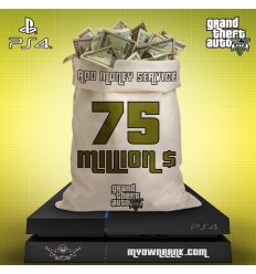 PS4 GTA V 75 MILLION IN BANK