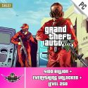 PC GTA V Account With 100 Billion Online Cash and 250 level [Epic Games PC]