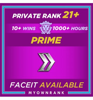 Prime SILVER 2| 1000+ Hours | Private Rank 21+