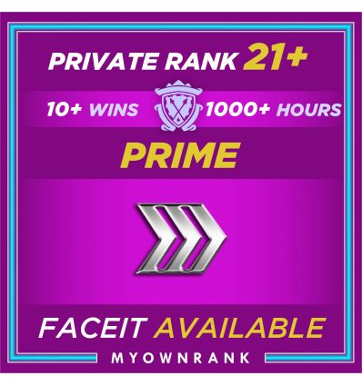 Prime SILVER 3 | 1000+ Hours | Private Rank 21+ | FACEIT READYMGH