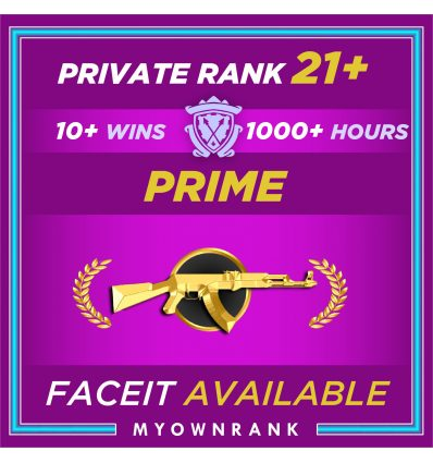 Prime MG2   1000+ Hours   Private Rank 21+   FACEIT READYMGH