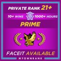 CSGO Prime SMURF LEM | 1000+ Hours | Private Rank 21+ | FACEIT READY