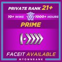 Prime SILVER ELITE MASTER | 1000+ Hours | Private Rank 21+ | FACEIT READY