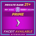 Prime SILVER 1 | 1000+ Hours | Private Rank 21+ | FACEIT READY