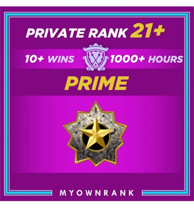 Prime LE OR LEM | 1000+ Hours | Private Rank 21+