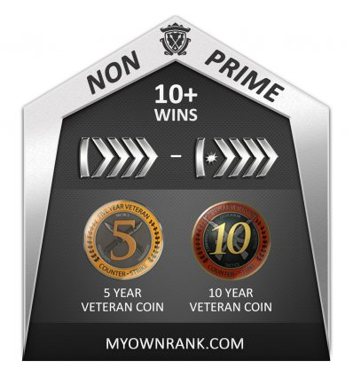 Prime GN1 To GNM | 5-10years Coins | Loyalty Badge | Add Friends Enable