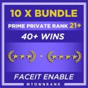 PRIME 10 x GN3-GNM | 40+ WINS | PRIVATE RANK 21+| FACEIT READY