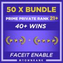 PRIME 50 x GN3-GNM | 40+ WINS | PRIVATE RANK 21+| FACEIT READY