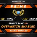 Prime GE  160+ WINS 450+ Hours   Over watch Enabled   Private Rank 24+   FACEIT READY
