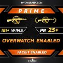 Prime MG 1 or MG 2 | 181 + WINS|OWERWATCH ENABLED | Private Rank 25+ | Faceit Available