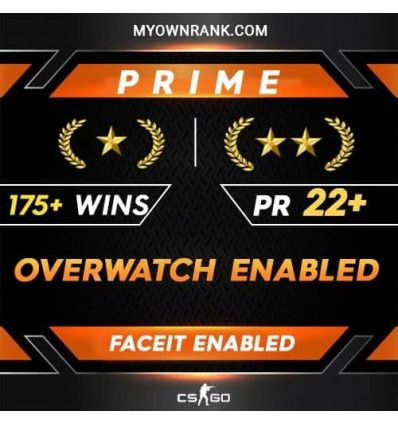 Prime GN1 OR GN2 |175 + WINS| OWERWATCH ENABLED | Private Rank 22+ | Faceit Available