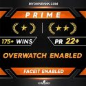 Prime GN1 OR GN3 |190 + WINS| OWERWATCH ENABLED | Private Rank 27+ | You Can Make Faceit Yourself