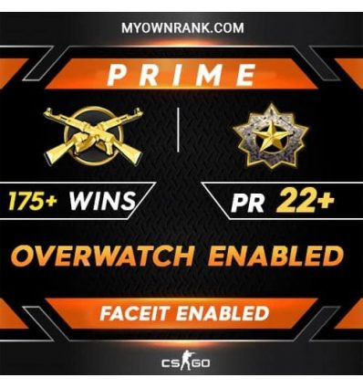Prime MGE or DMG | 175+ WINS| OWERWATCH ENABLED | Private Rank 22+ | Faceit Available