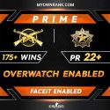 Prime MGE or DMG | 171+ WINS| OWERWATCH ENABLED | Private Rank 22+ | Faceit Available