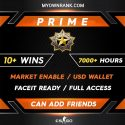 PRIME DMG | 10+ Wins 7000+ Hours | Can add Friends | Market Enabled | Faceit Ready | FULL ACCESS