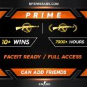 PRIME MG 1-2 | 10+ Wins 7000+ Hours | Can add Friends | Market Enabled | Faceit Ready | FULL ACCESS