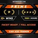 PRIME GN 1-2 | 10 Wins 7000+ Hours | Can add Friends | Market Enabled | Faceit available | FULL ACCESS