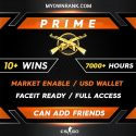 PRIME MGE | 10+ Wins 7800+ Hours | Can add Friends | Market Enabled | Faceit Ready | FULL ACCESS