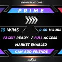 PRIME SILVER 4 ACCOUNT   MARKET ENABLED   CAN ADD FRIENDS   FULL ACCESS