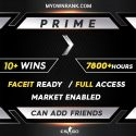 PRIME SILVER 1   10+ Wins 7000+ Hours   Can add Friends   Market Enabled   Faceit Ready   FULL ACCESS