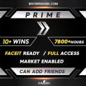 PRIME Silver 2 or Silver 3   10+ Wins 7000+ Hours   Can add Friends   Market Enabled   Faceit Ready   FULL ACCESS
